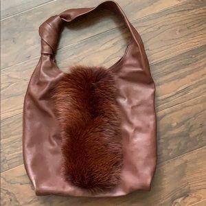 Loeffler Randall lambskin leather tote
